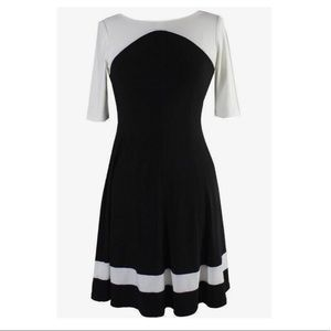American Living. Black and white, formal dress